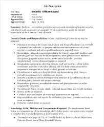 security guard duties for resume 28 images doc 25503300