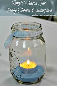 jar baby shower centerpieces jar baby shower centerpiece crafts diy