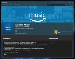 amazon music app amazon music shows up in the microsoft store on windows 10 windows