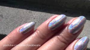 glitter gal 3d holographic nail polish in silver youtube