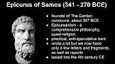the words of epicurus the letter to menoeceus youtube