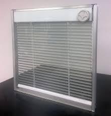 between the glass blinds for doors