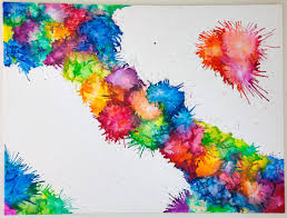How To Get Crayon Off The Wall by Very Cool Painting With Crayons Blow Dryer Splatter Painting