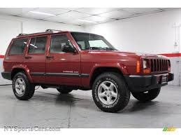red jeep cherokee 1999 jeep cherokee sport 4x4 in chili pepper red pearl 668466