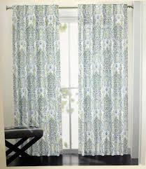 Cynthia Rowley Drapery Rowley Blue Green Gray Medallion Damask Window Curtain Panel 50x96