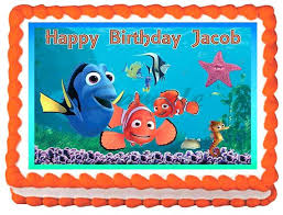 nemo cake toppers nemo cake toppers birthday finding edible image topper decoration