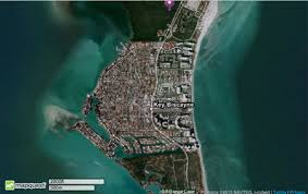 satellite map of florida maps of key biscayne and the of key biscayne