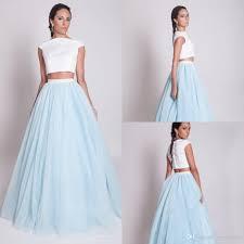 2017 tutu dress bridesmaid dress two pieces a line short sleeve