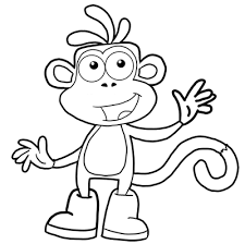 how to draw boots the monkey from dora the explorer drawing lesson