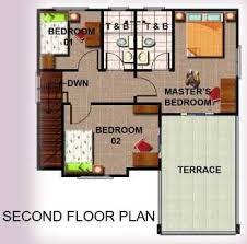 simple house design with second floor interior design
