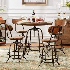 Counter Height Dining Room Set by Homesullivan Olson 5 Piece Brown Bar Table Set 405429 36rd5pc