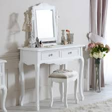 white vanity table with mirror elise white range dressing table mirror and stool melody maison