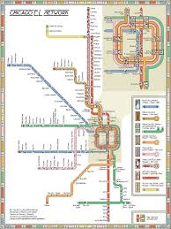 Chicago Trains Map by A Decorative Chicago U201cl U201d Map By Max Roberts That Is An Ode To