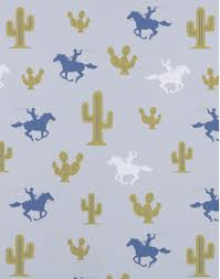 cowboy wrapping paper cactus cowboy the pattern collective