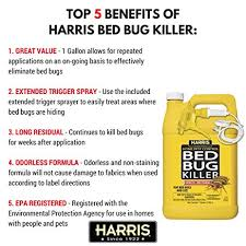 How Can I Kill Bed Bugs Amazon Com Harris Bed Bug Killer Liquid Spray With Odorless And