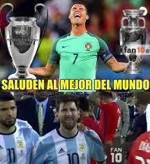 Memes De Messi - portugal con cristiano gana la euro y los memes se burlan de messi