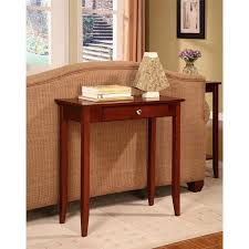 rosewood tall end table coffee brown dhp rosewood tall small space console table coffee brown walmart com