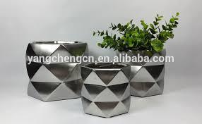 copper geometric ceramic planter for orchid in shiny copper buy