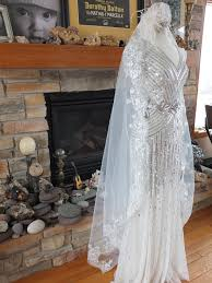 deco wedding dress silver screen sequin deco wedding gown tres chicvery