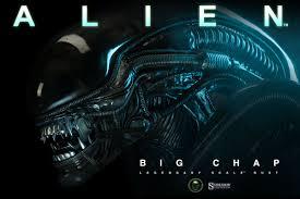 alien alien big chap legendary scale tm bust by sideshow co