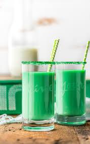 vanilla mint green milk for st patrick u0027s day leprechaun milk