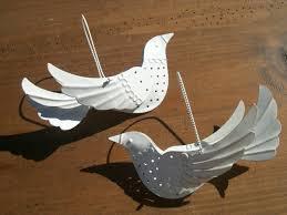 2014 diy ornaments ideas white dove ornament air plant holder