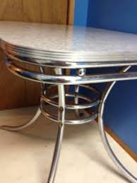 1950s chrome kitchen table and chairs vintage chrome dining set dining room ideas