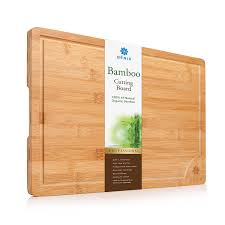 amazon com xl bamboo cutting board serving tray longest lasting