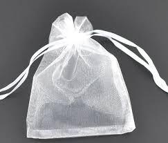 organza favor bags 25 organza bags white organza bags 9cm x 7cm party favor bags
