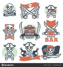 alcohol vector pirate spirit logo emblems u2014 stock vector sonulkaster 150002314