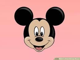 3 ways draw mickey mouse step step wikihow