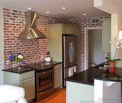 kitchen brick backsplash brick backsplash in a kitchen kitchentoday