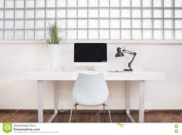 modern office desk front view stock illustration image 79098689