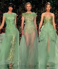 green dresses for weddings abed mahfouz 2011 couture dresses wedding inspirasi