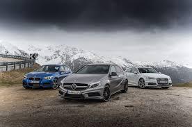 lexus vs mercedes vs bmw vs audi audi s3 vs bmw m135i vs mercedes benz a45 amg automobile magazine