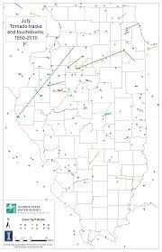 World Map Of Tornadoes by Tornado Maps For Illinois Illinois State Climatologist Office