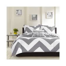 total fab grey and white chevron bedding