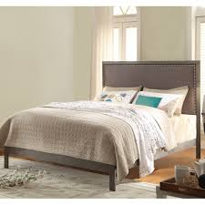 normandy upholstered bed in steel gray humble abode