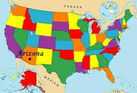 us map arizona state map of usa arizona state my