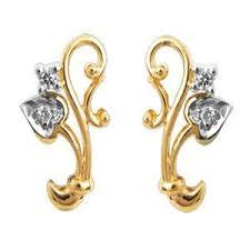 fashion earrings ag real diamond four leaf shape fashion earring agse0042