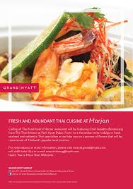 cuisine promotion fresh and abundant cuisine at marjan grand hyatt muscat