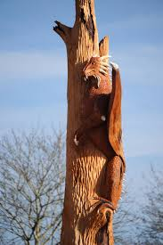 Hereford Patio Centre by Intricate Carvings Created In Tree Outside Former County Pub