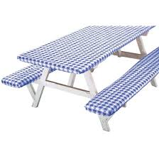 3 piece fitted picnic table bench covers deluxe picnic table cover set of 3 walmart com