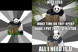 Pick Up Line Panda Meme - the evolution of pick up line panda on animeme animeme stuff