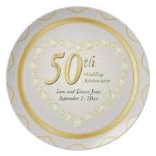 50th wedding anniversary plates wedding anniversary plates zazzle au