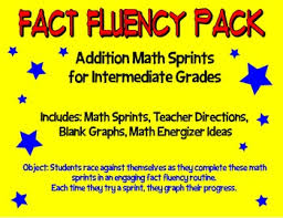 fact fluency pack addition math sprints for intermediate grades