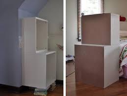 Closet Solutions Ikea Space Saving Stuva Storage Closet And Shelf Inset Into Wall Ikea