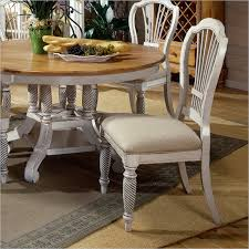 Antique White Dining Room Furniture Wilshire 7 Piece Rectangle Dining Set In Antique White And Pine