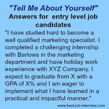 What To Say About Yourself On A Resume Tell Me About Yourself The Right Answer