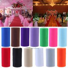 rolls of tulle wedding decor organza fabric mesh wrap net party tulle roll spool